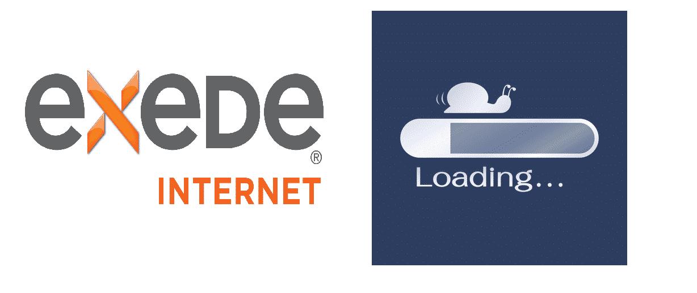 exede internet slow