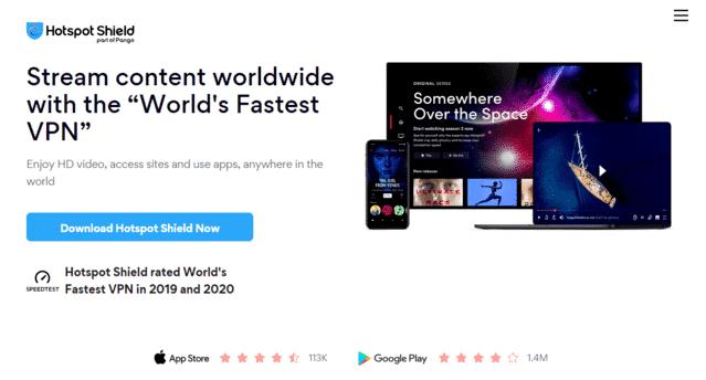 HotspotShield Best Singapore VPN For Mobile Legends