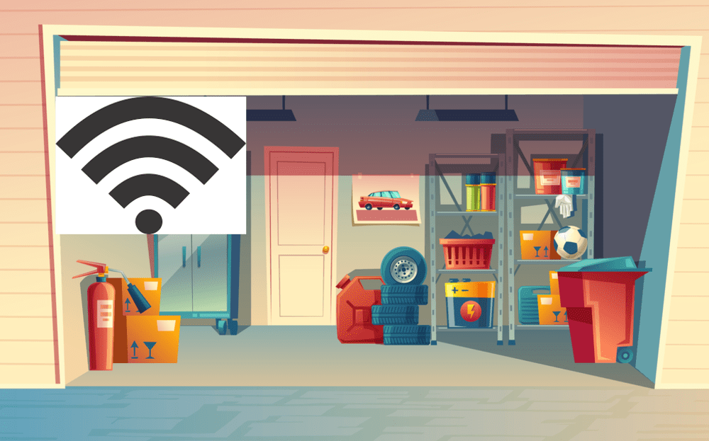 how to get internet in your garage