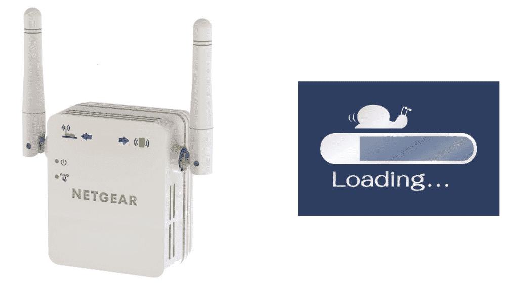 netgear repeater slow internet speed