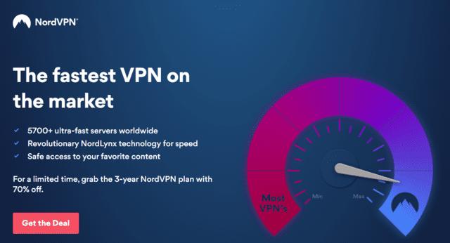 NordVPN Best Singapore VPN For Laptop