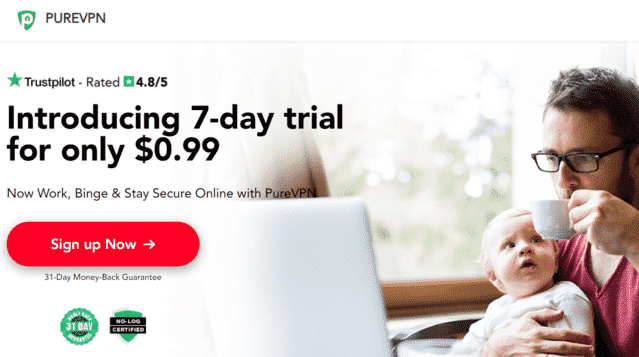PureVPN Best Singapore VPN For Kindle