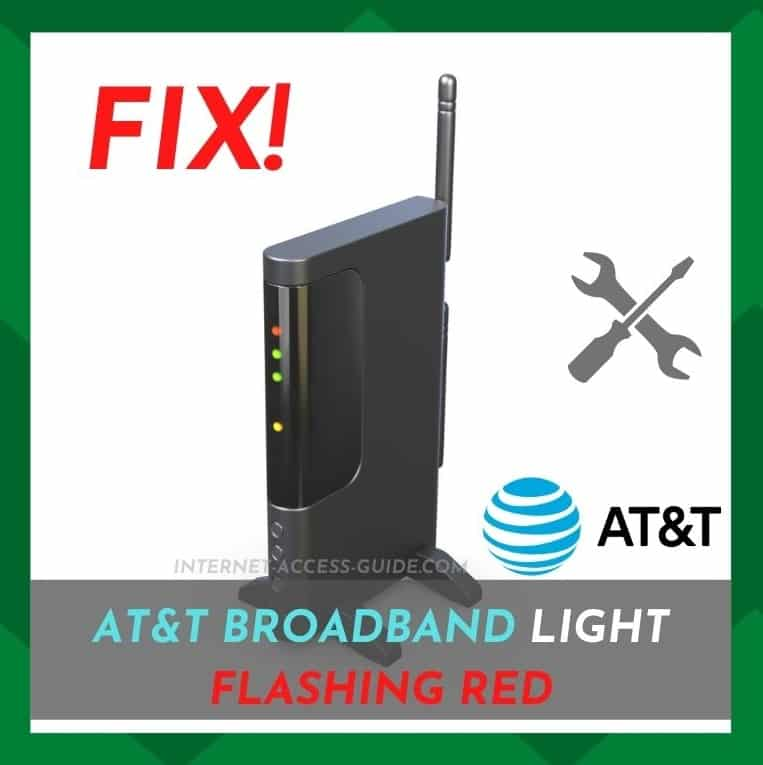 AT&T Broadband Light Flashing Red