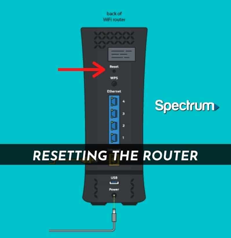Resetting the Spectrum Router