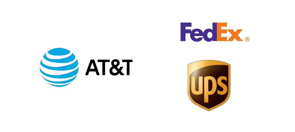 does at&t ship ups or fedex