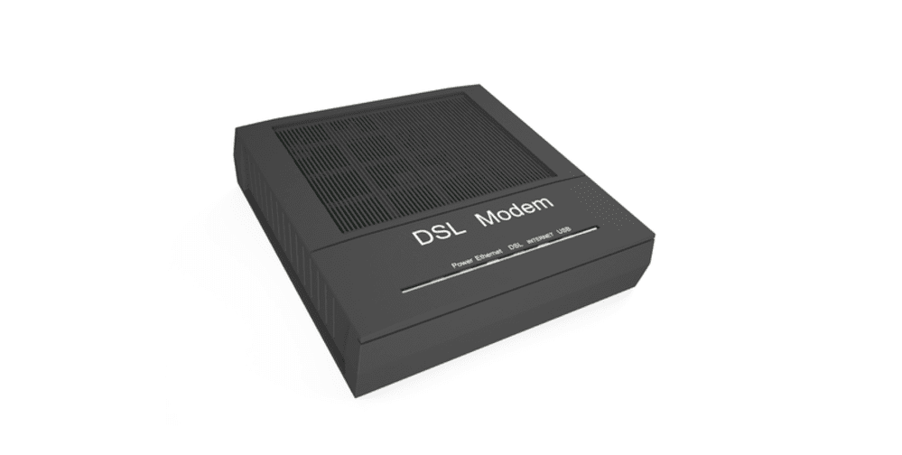 dsl modem only no router