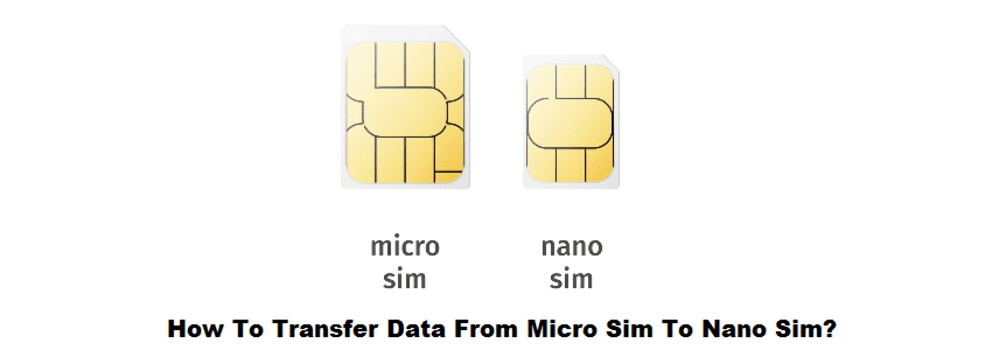 how to transfer data from micro sim to nano sim