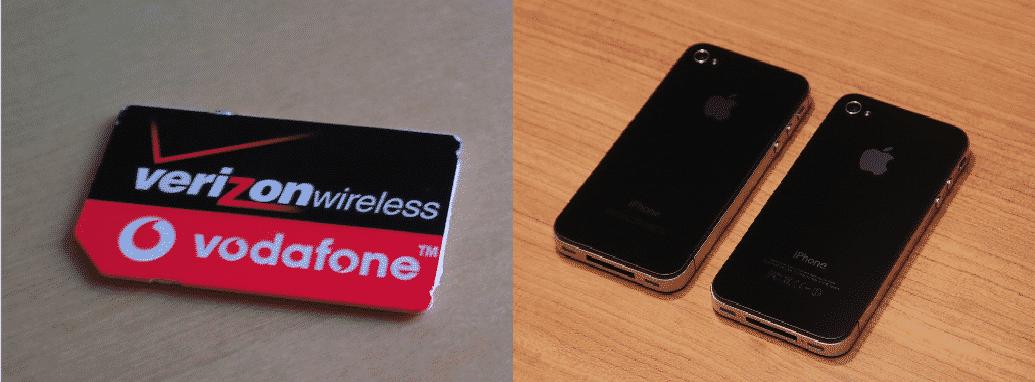 putting verizon sim card in at&t iphone