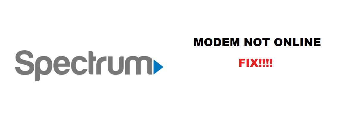 spectrum modem not online