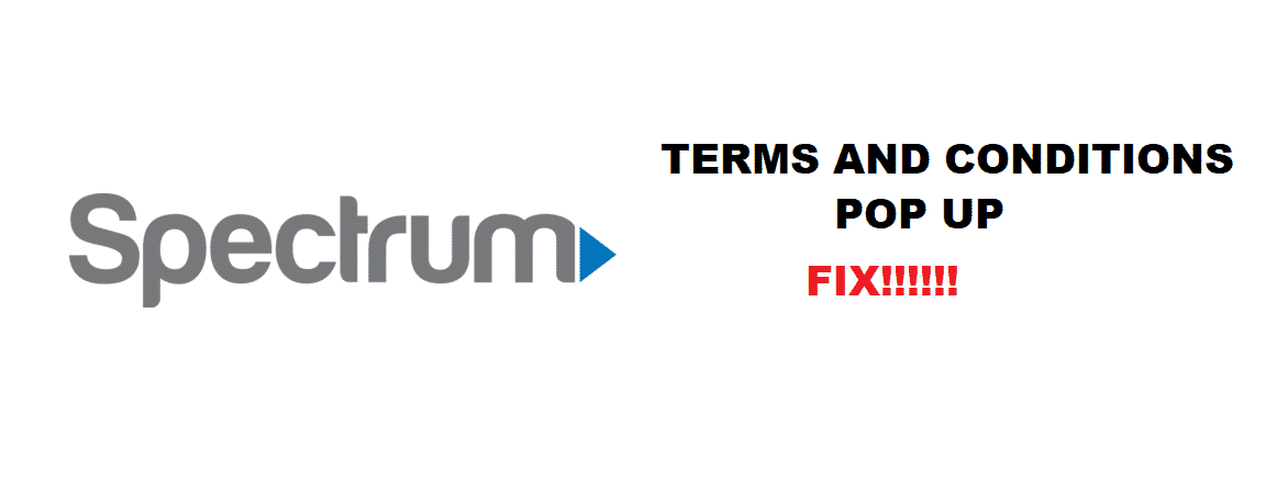 spectrum terms and conditions pop up