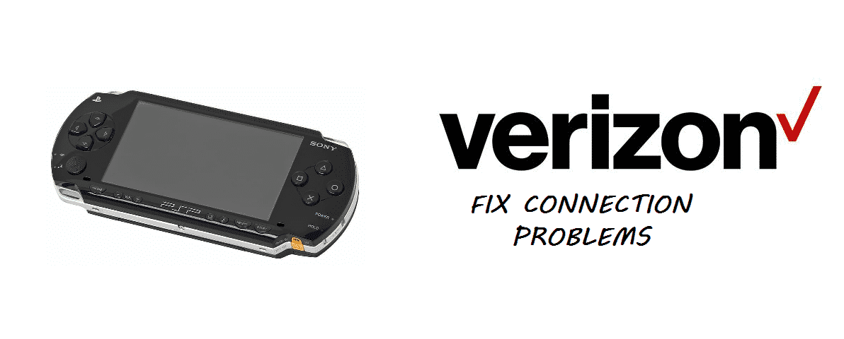 verizon psp connection problem