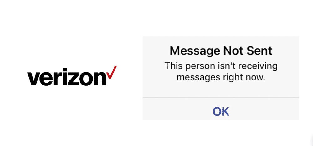 verizon text messages not sending