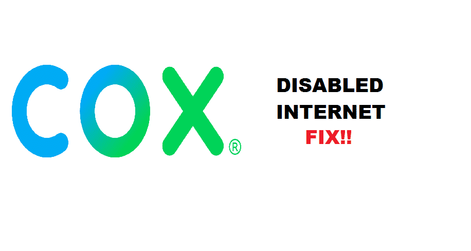 cox disabled my internet
