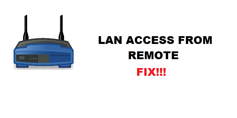 lan access from remote