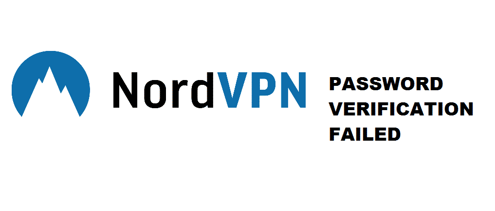 nordvpn password verification failed