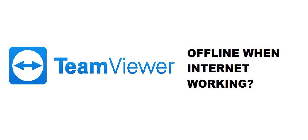 teamviewer offline but internet working