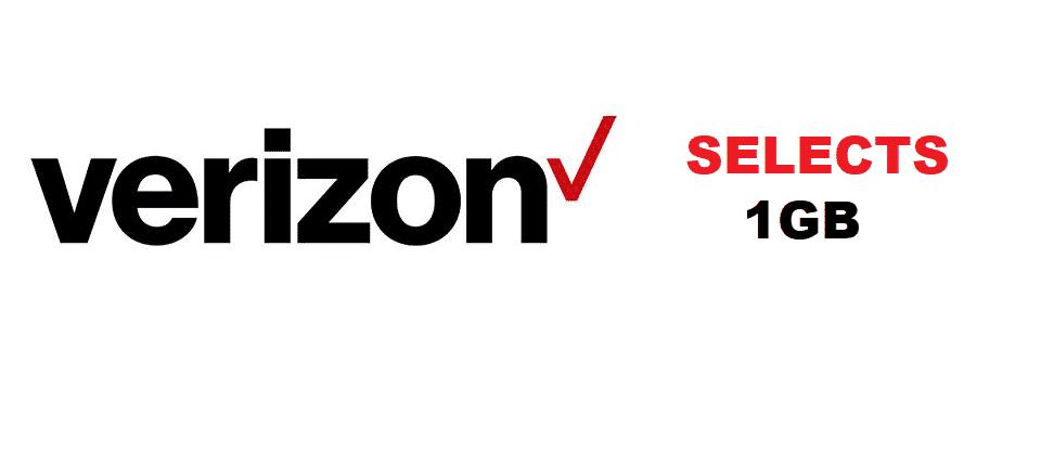 verizon selects 1gb