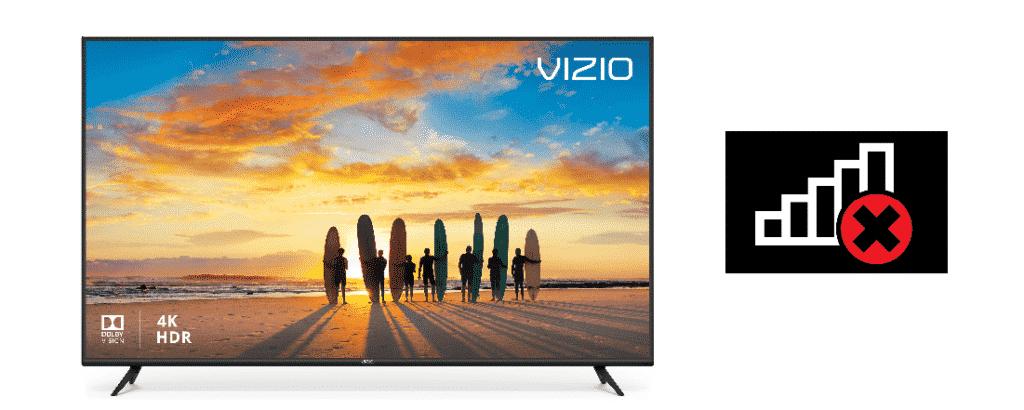 vizio tv network disconnected