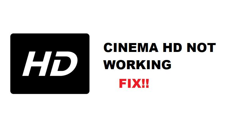 cinema hd not working