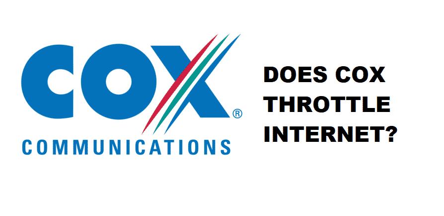 does cox throttle internet