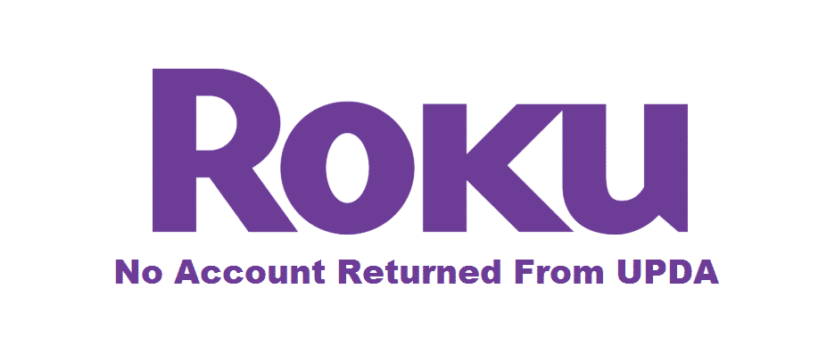 no account returned from upda