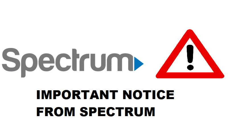 important notice from spectrum