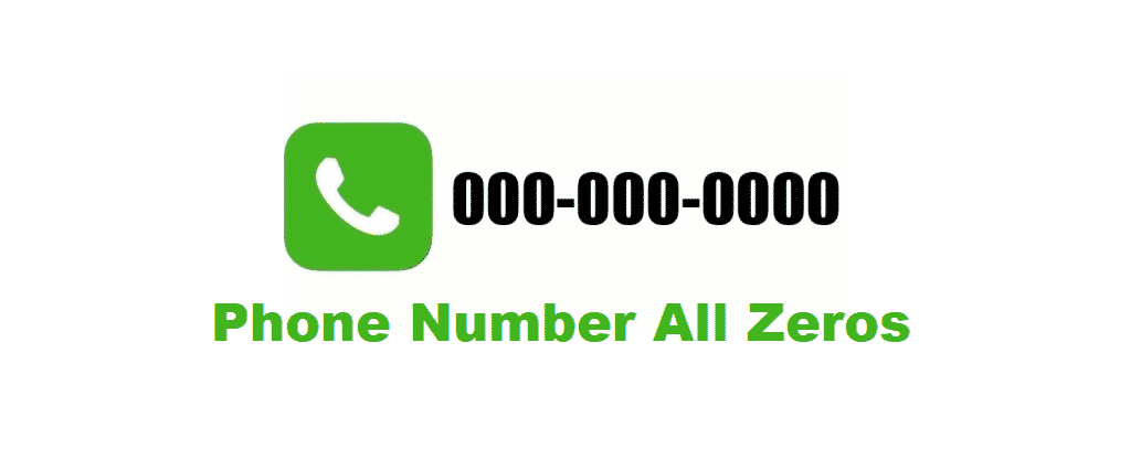 phone number all zeros