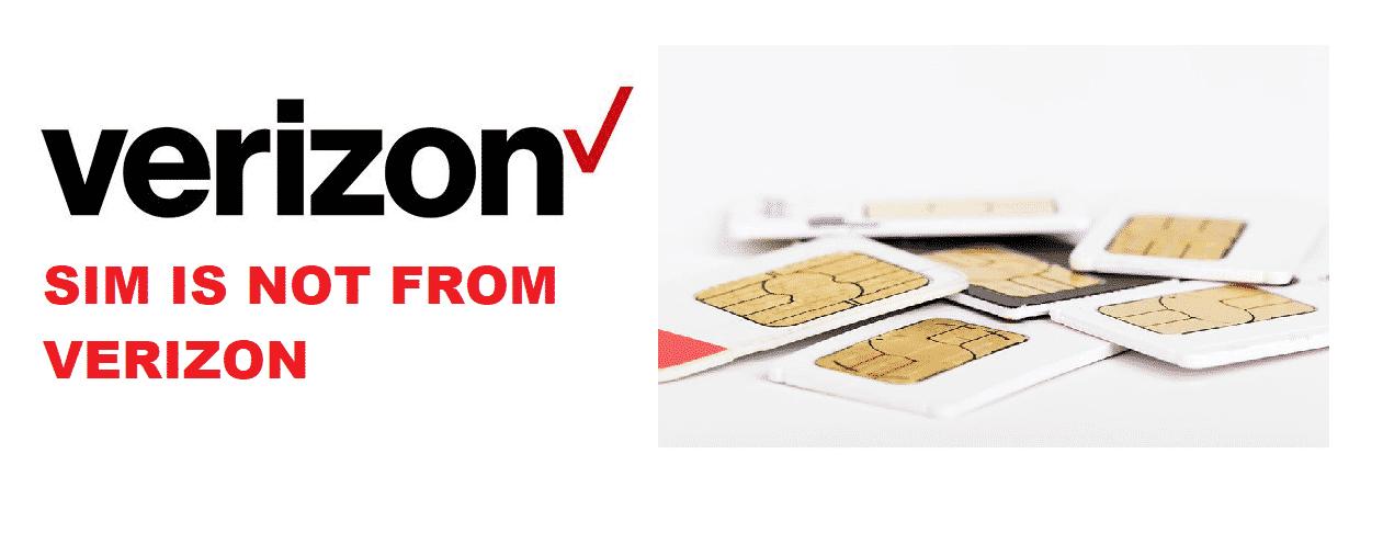 sim card is not from verizon wireless