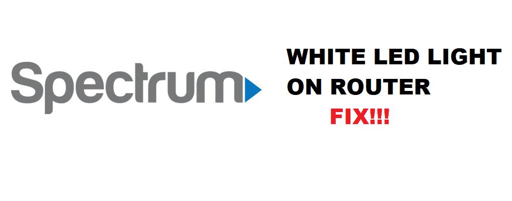 spectrum modem online light white