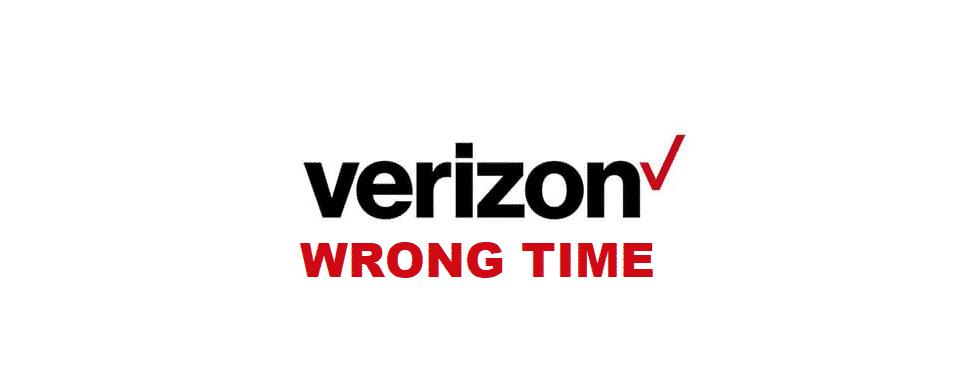verizon time wrong