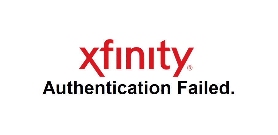xfinity authentication failed. please try again or use a different method.