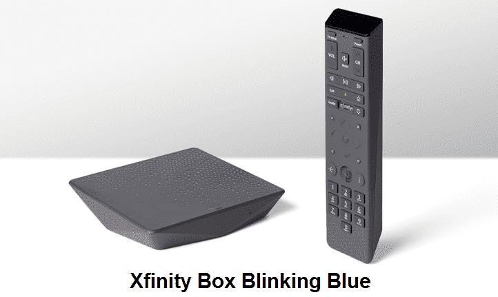 xfinity box blinking blue