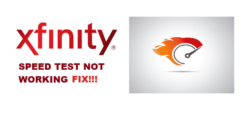 xfinity speed test not working