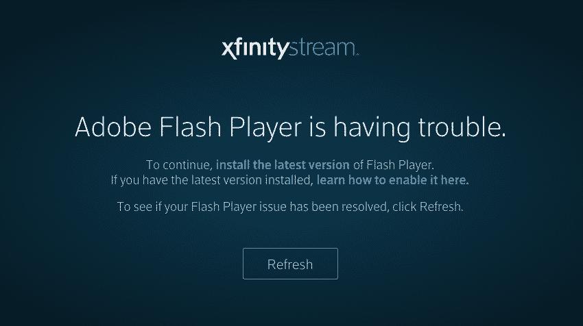 xfinity stream without flash
