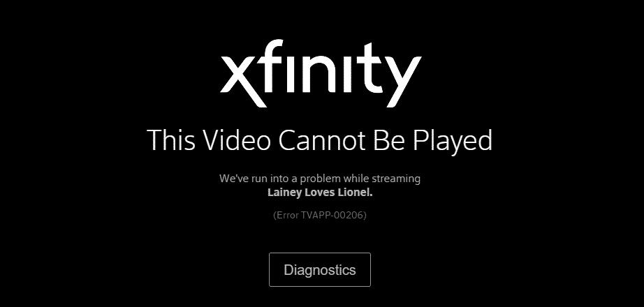 xfinity tvapp-00206