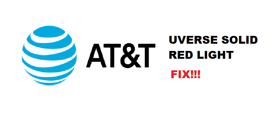 at&t uverse router service light solid red