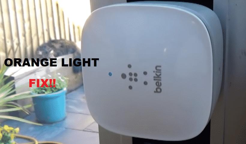belkin n300 wifi range extender orange light