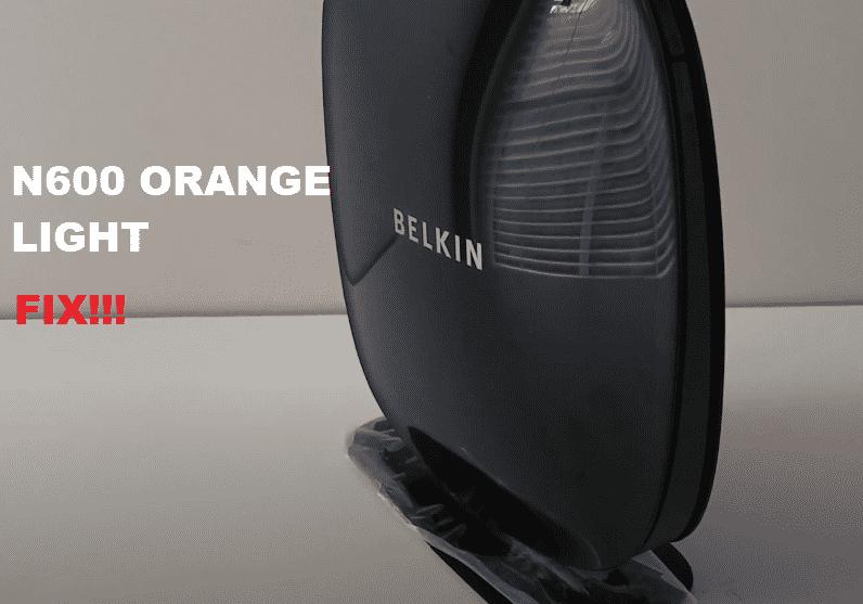 belkin n600 orange light