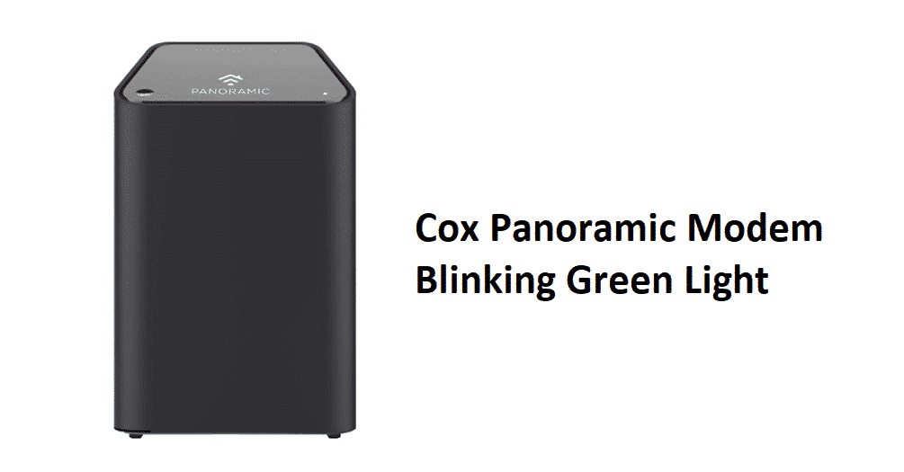 cox panoramic modem blinking green light