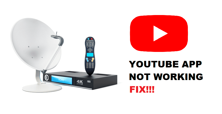 dish network youtube app not working