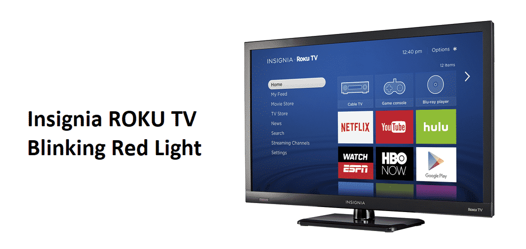 insignia roku tv blinking red light