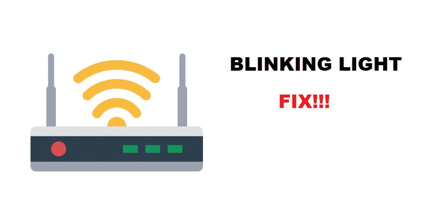 internet light blinking on router