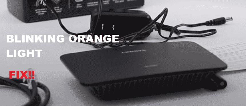 linksys re6500 blinking orange light