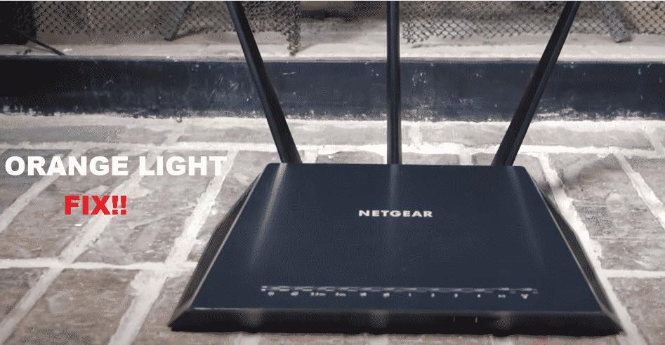 netgear nighthawk ac1900 orange light