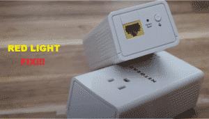 netgear powerline 1200 red light