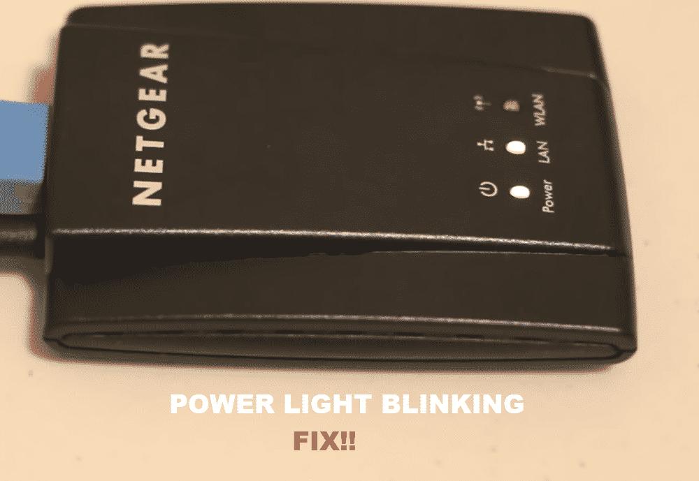 netgear wnce2001 power light blinking