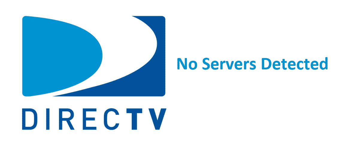 no servers detected directv