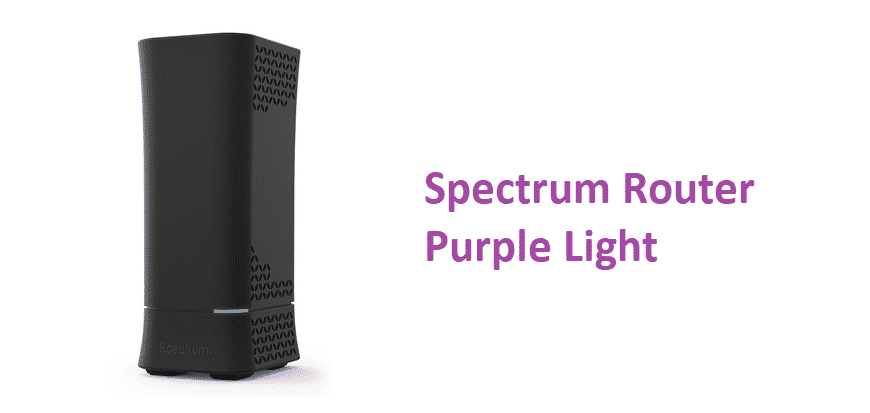 spectrum router purple light