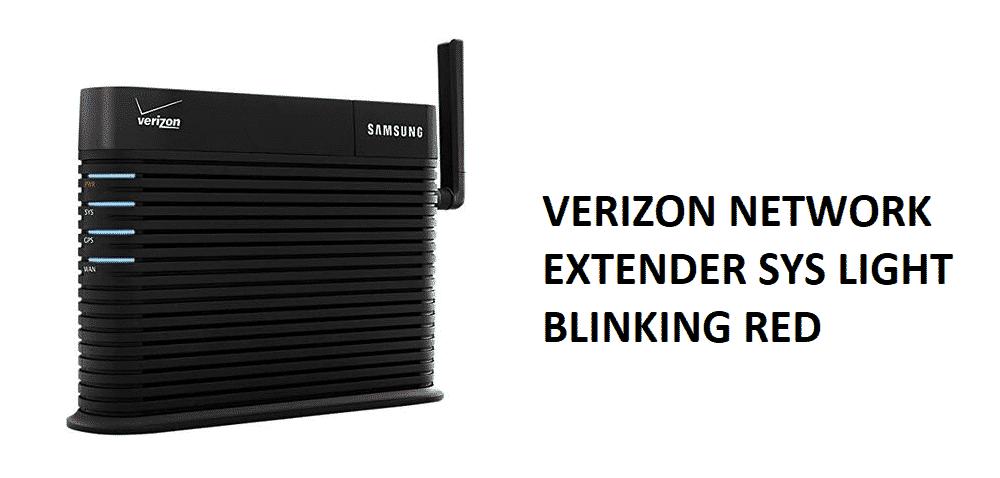 Verizon Network Extender SYS Light Blinking Red: 3 Fixes ...