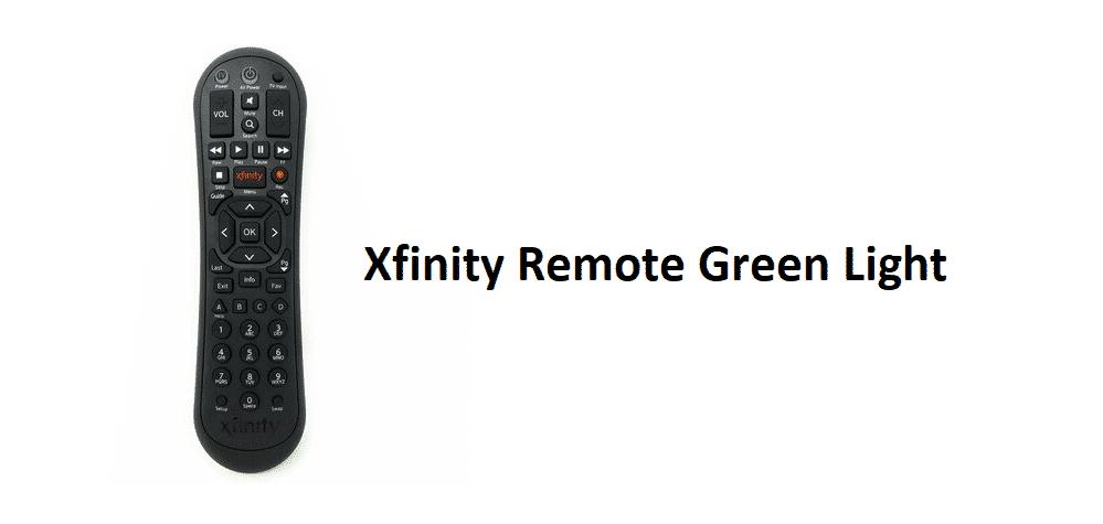 xfinity remote green light